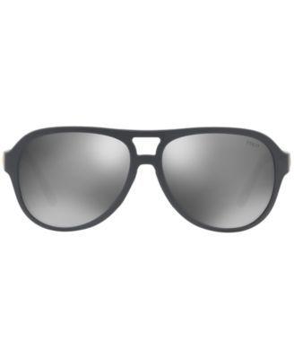 Polo Ralph Lauren Sunglasses, PH4123 - GREY/SILVER MIRROR | Polo ...