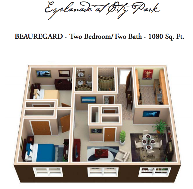 Apartments In New Orleans Downtown: Luxury Floor Plans, New Orleans Apartment