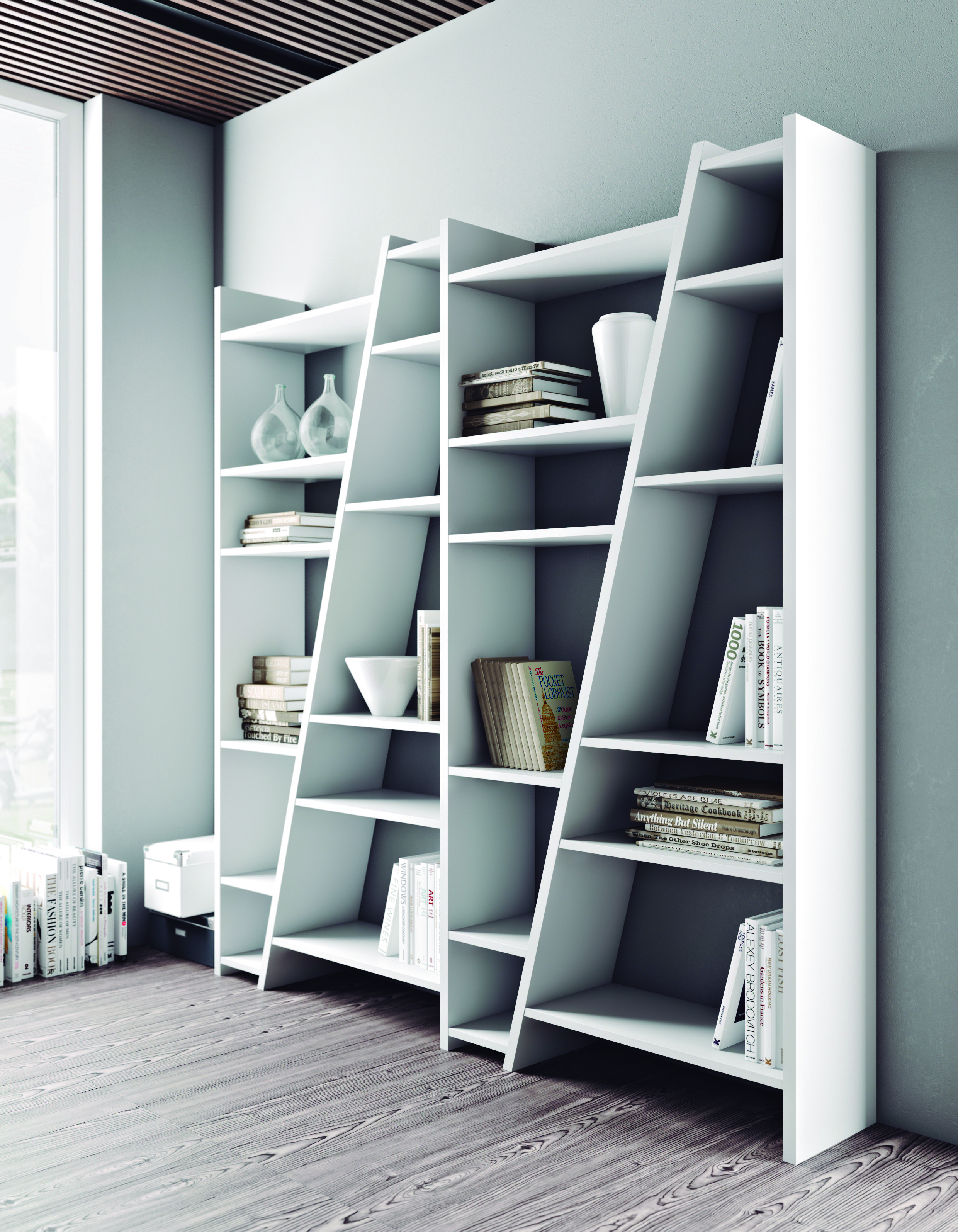 our corner shelves dividers architecture encourage bookshelf wooden regarding for curved several shelving with white room bookcase divider storage renovation intended