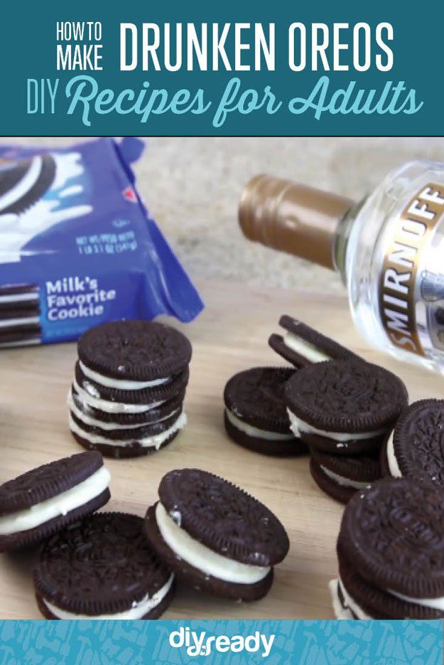 This is what happens when you mix oreos with booze oreos diy drunken oreos video tutorial the perfect party food recipe how to make alcoholic forumfinder Gallery