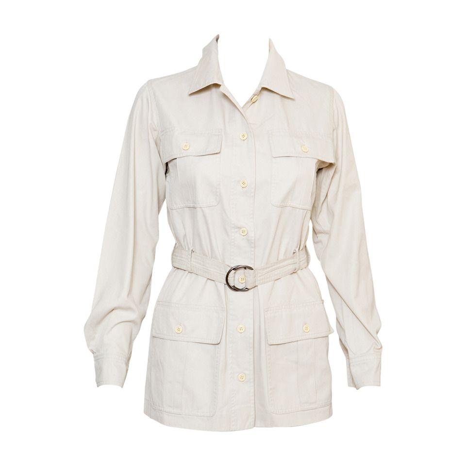 1968s Safari Yves Saint Laurent  Jacket   From a collection of rare vintage jackets at https://www.1stdibs.com/fashion/clothing/jackets/