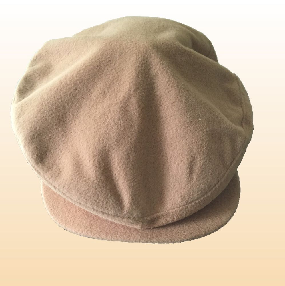 508a02fea VTG London Fog Newsboy Cabbie Driver Hat Cap Button Brim Camelhair ...