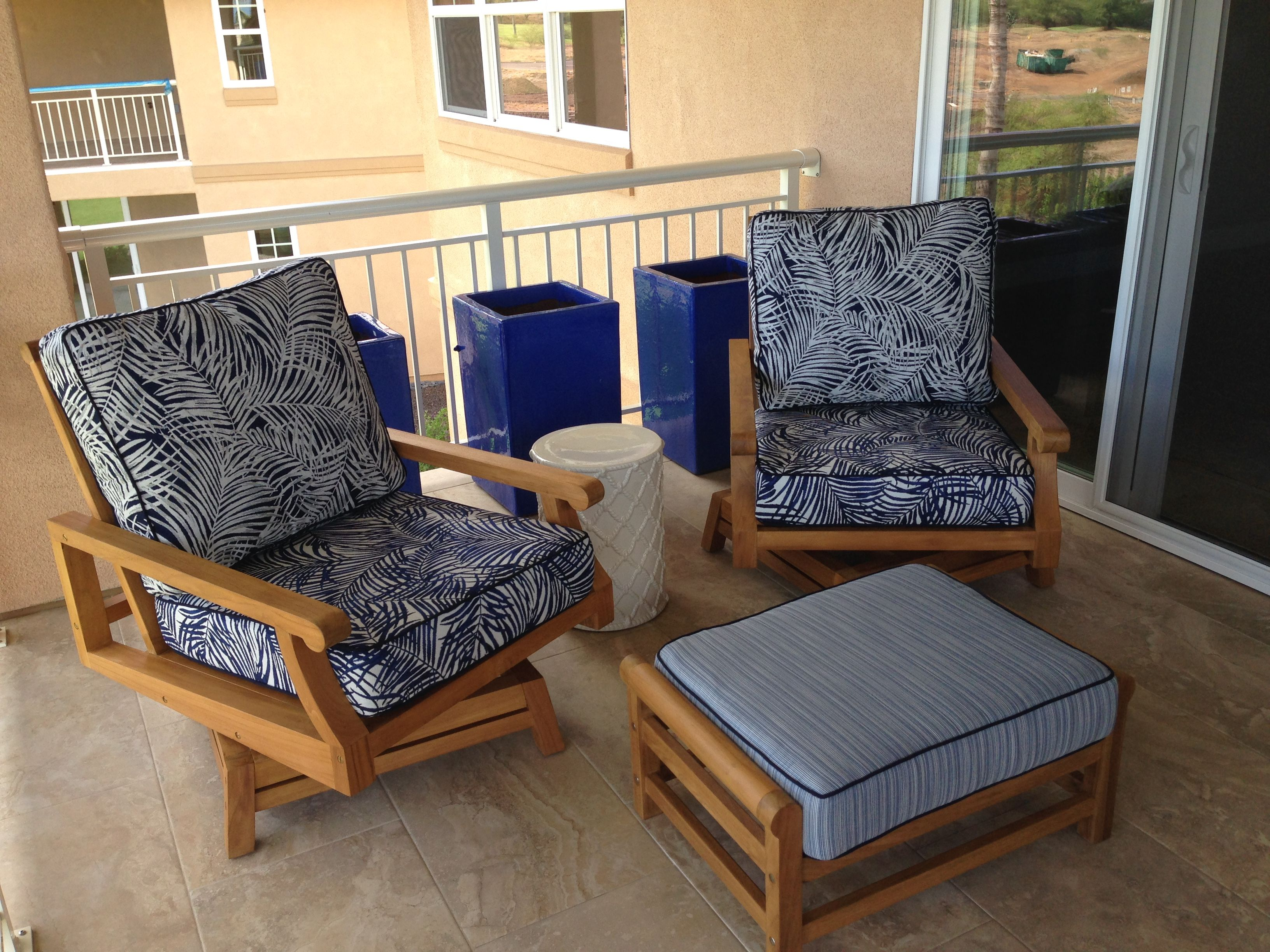 King swivel club armchairs ottoman outdoor living