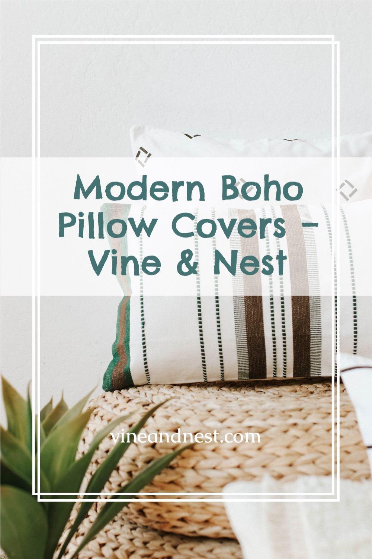 Modern Boho Pillow Covers – Vine & Nest