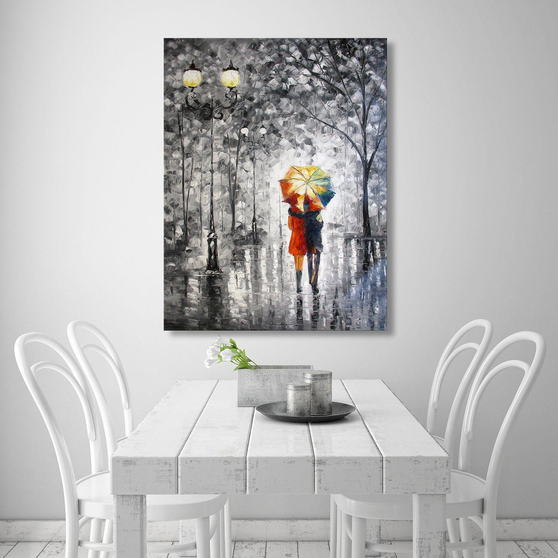 Canvas Wall Art Large Romantic Beautiful Palette Knife Oil