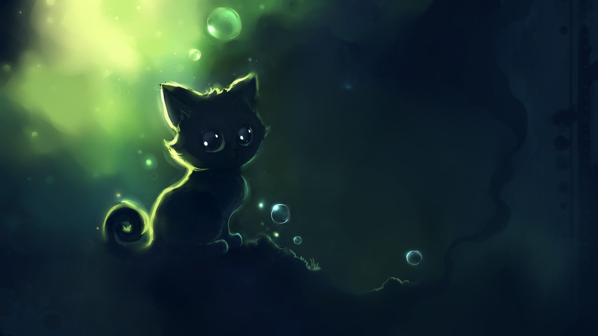 Dark Wallpaper Anime Cat Cat Artwork Cat Wallpaper Cute Anime Cat