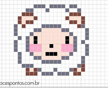 Cute Little Ram Con Imagenes Animales Punto De Cruz Punto De Cruz