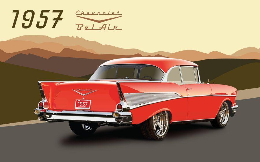24++ 1957 chevy bel air wallpaper inspiration