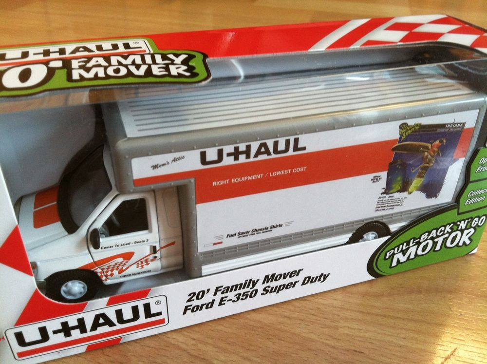 picture regarding Uhaul Printable Coupon known as U-HAUL Toy Relocating Truck 1:43 Ford E350 Indiana O Scale