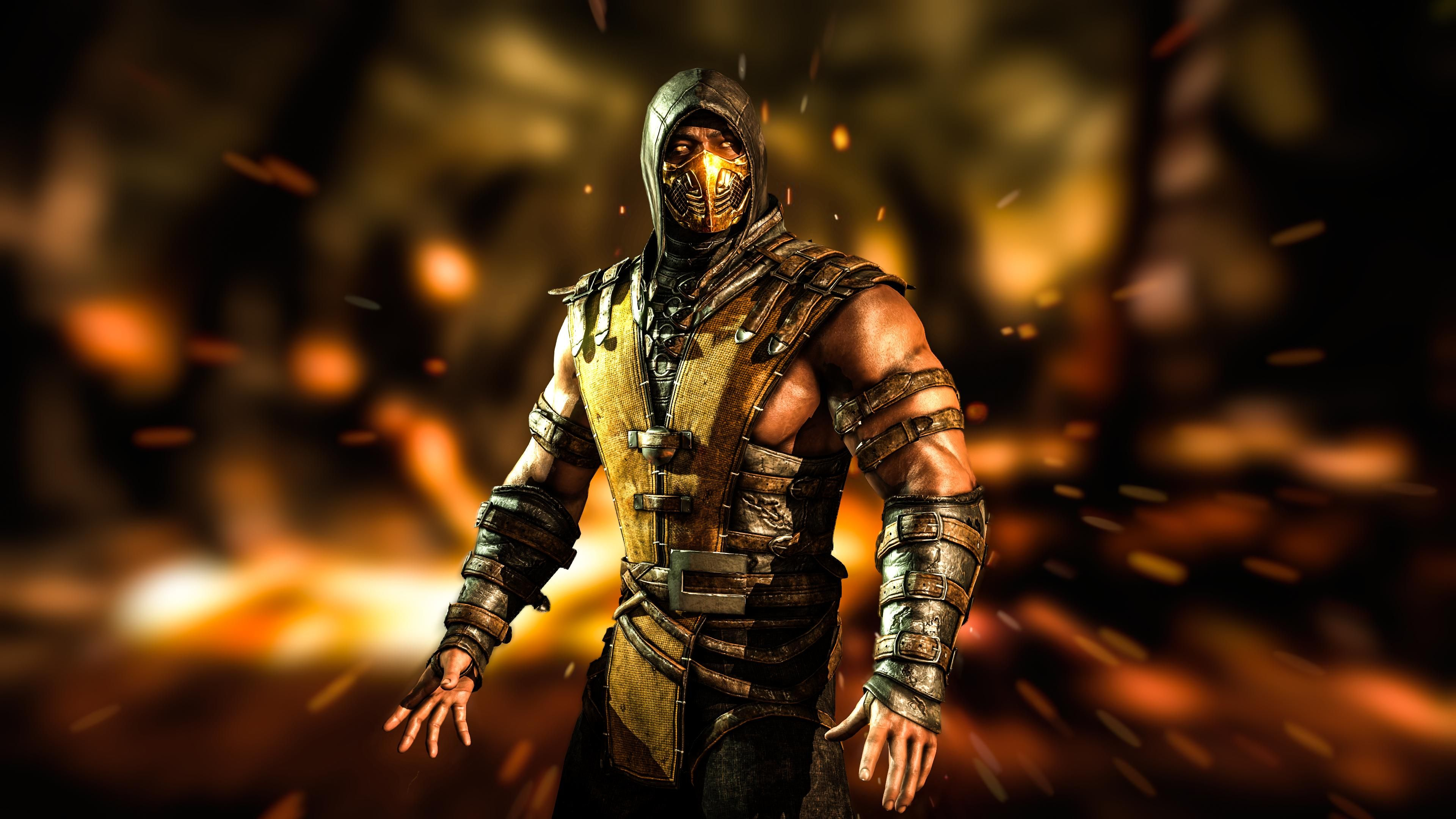 mortal kombat x scorpion wallpaper hd desktop widescreen