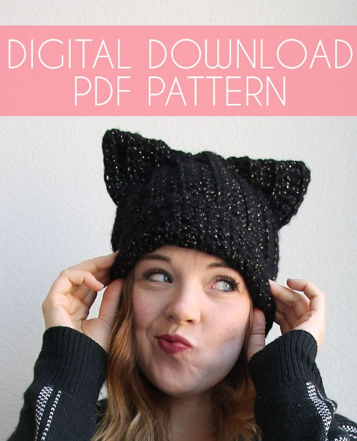 Black Cat Slouch Hat Crochet Pattern - Instant Download | Sombreros ...