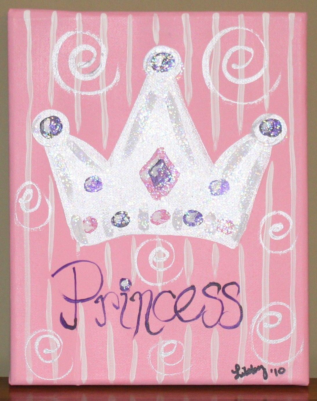 princess 8x10 painting paint party ideas pinterest princess
