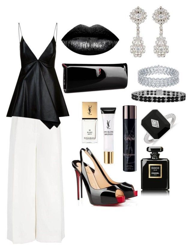 """Augustina..."" by lindaalty on Polyvore featuring Joseph, Valentino, Christian Louboutin, The Lip Bar, Yves Saint Laurent, McTeigue & McClelland and Chanel"