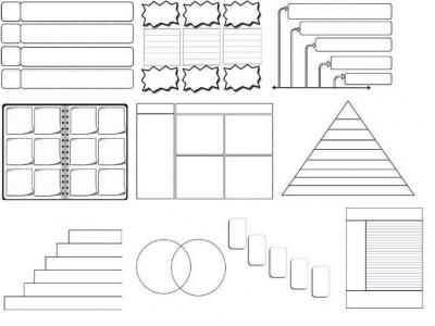 44 Editable Graphic Organizers Interactive Notebook Templates