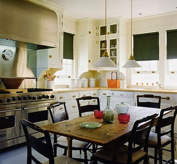 Great Room Kitchen With Large Island: Love The Look Of A Kitchen Table Instead Of An Island