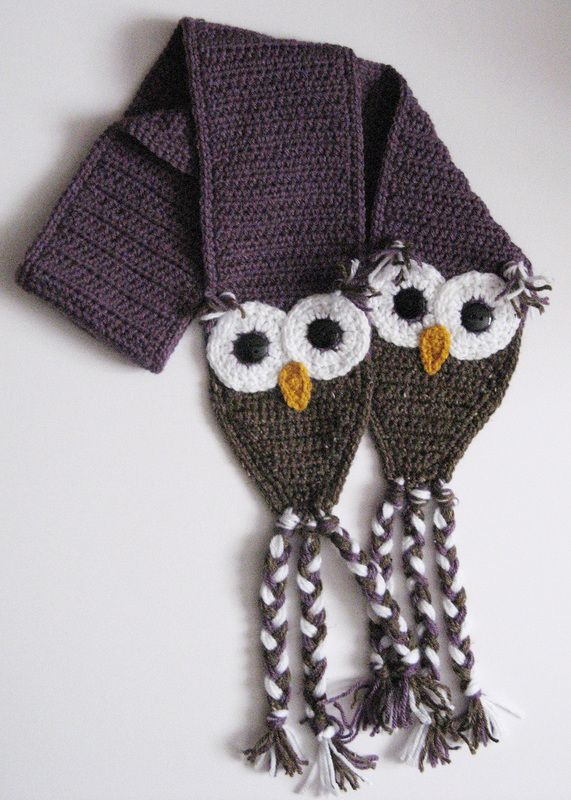 Craft Passions: Owl Scarf free crochet pattern | Craft Ideas ...
