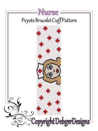 Nurse - Beaded Peyote Bracelet Cuff Pattern | DebgerDesigns - Patterns on ArtFire