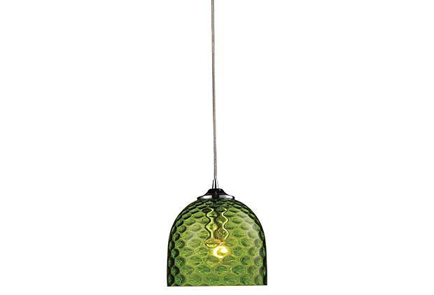 Viva 1-Light Pendant, Green on OneKingsLane.com
