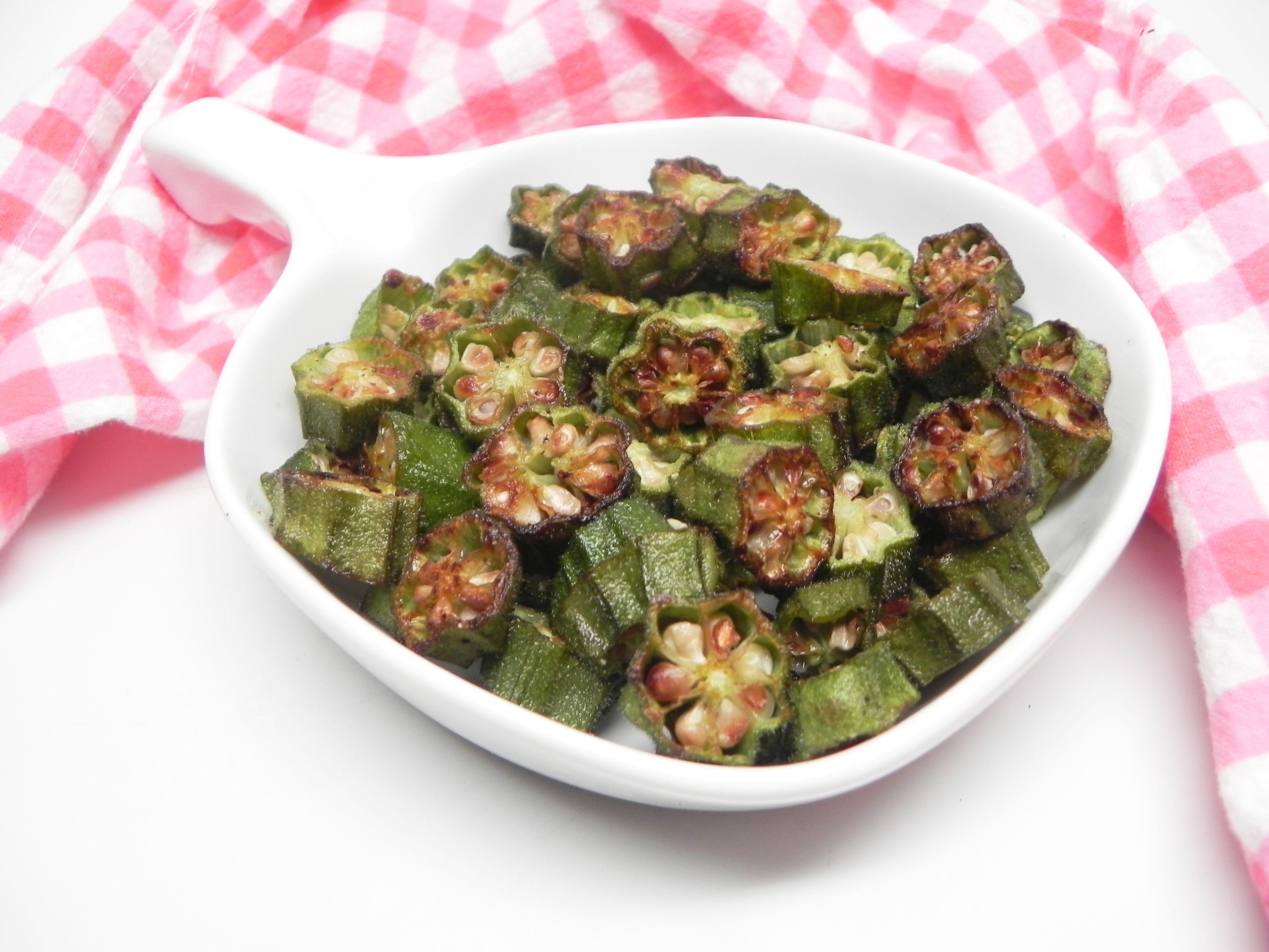 Air Fryer Roasted Okra Recipe Roasted okra, Okra