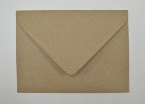 recycled brown kraft euro flap envelopes a7 5 1 4 x by intheclear