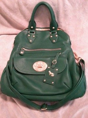 6 hours left. Priced to sell at $108.00 Emma Fox Large Leather Green Foldover Purse Handbag Crossbody Signature $298 | eBay