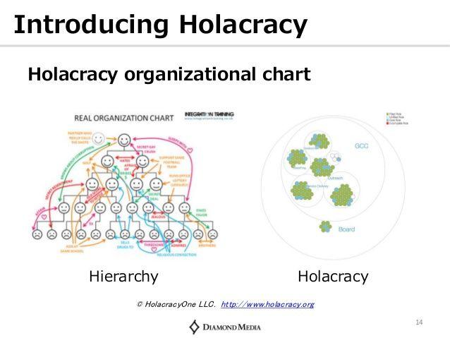 holacracy vs hierarchy - Google 検索 Agile Organization Pinterest - non profit organizational chart