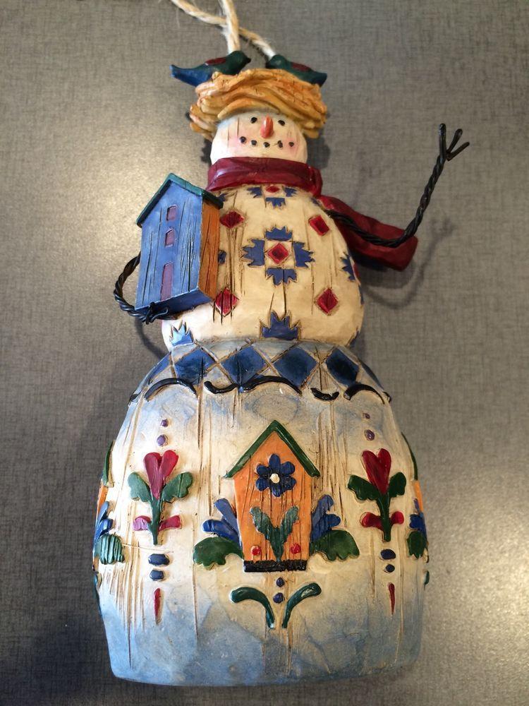 Jim Shore Snowman Ornament Heartwood Bird Nest Birdhouse Tags   eBay