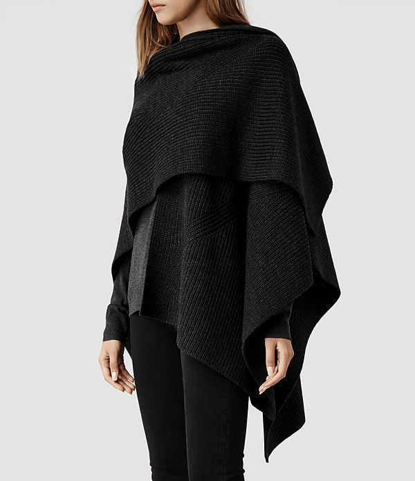 Women's Nargo Wrap Shawl (Cinder Marl) - product_image_alt_text_2