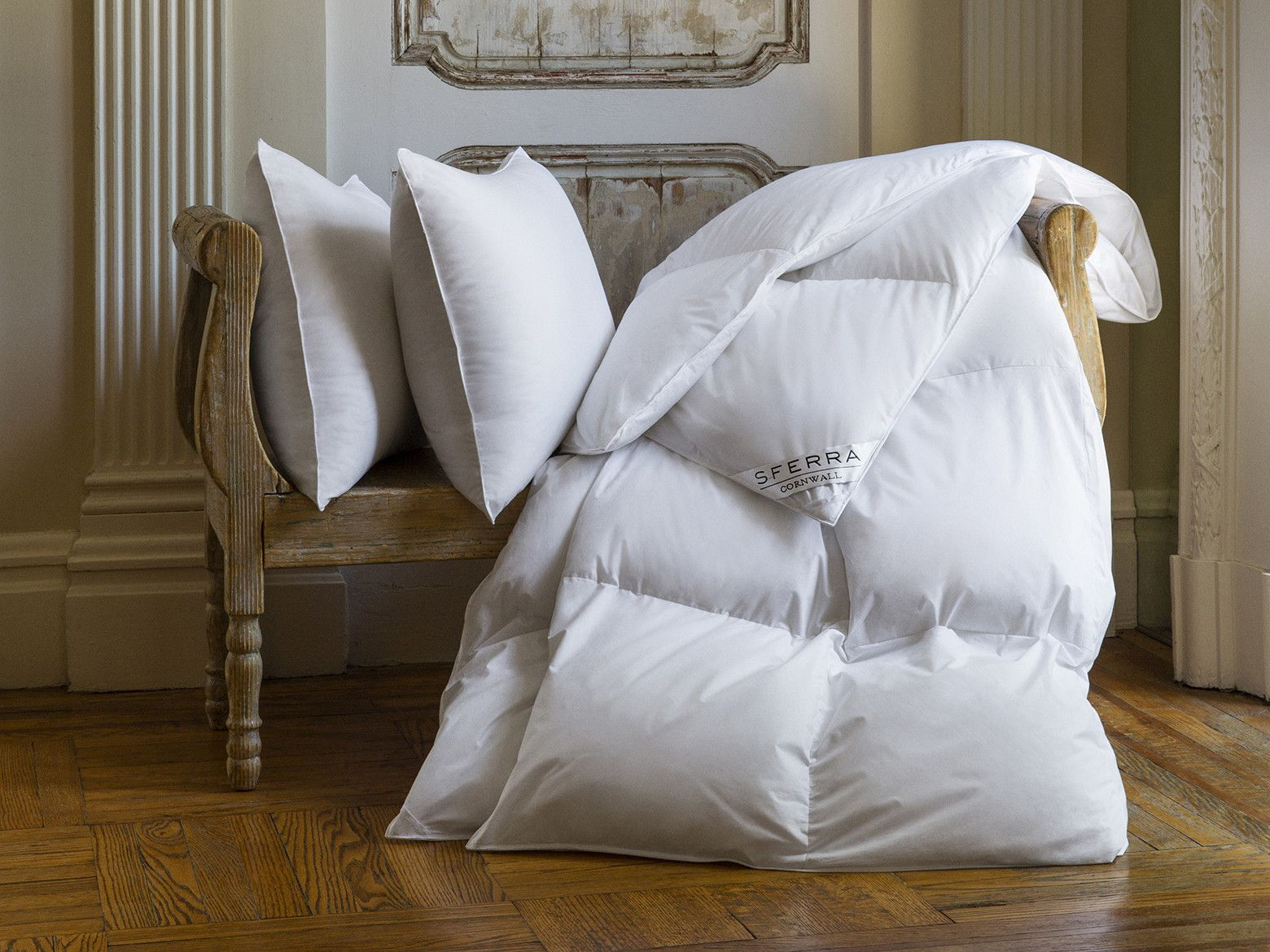 Sferra Cornwall Down Duvet Down Comforter Goose Down Pillows