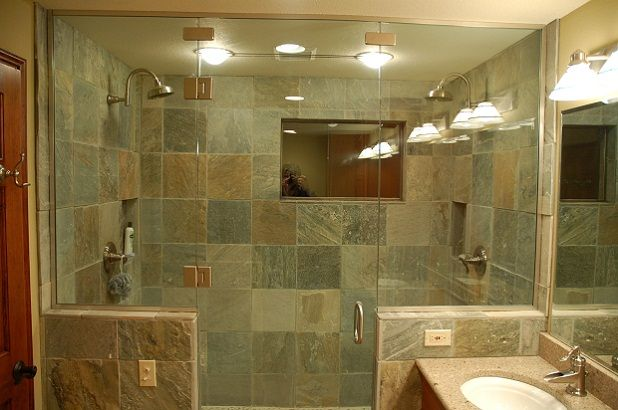 I'm so excited to have 2 shower heads! This is pretty, but I'm not sure about the glass. Hard to clean and not private.
