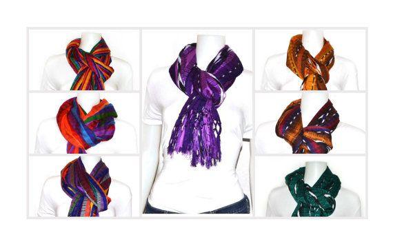 Pashmina scarf shawl Handwoven infinity scarf Fringed by IKALA