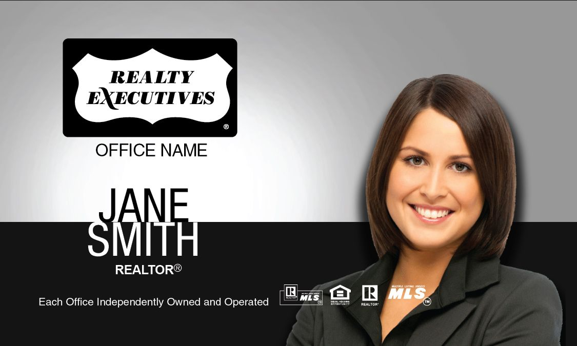Black and white realty executives business card template realty black and white realty executives business card template colourmoves