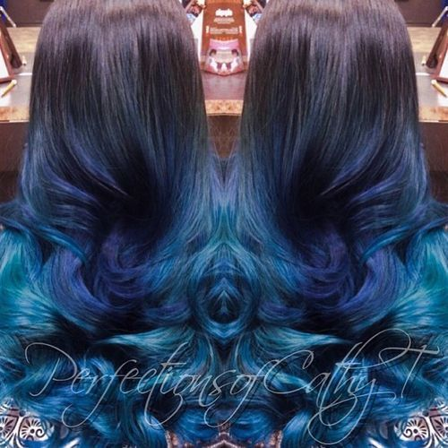 40 Fairy Like Blue Ombre Hairstyles Unnatural Hair Color Blue