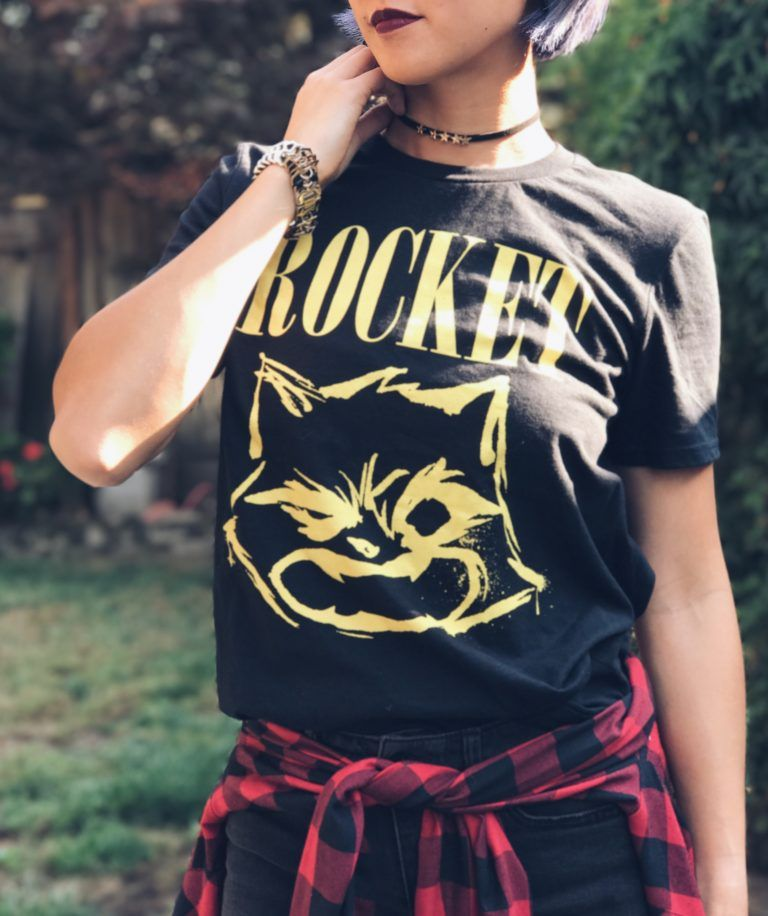 5c78163ae35f Rocket Raccoon Guardians of the Galaxy Band Tee 90s Grunge Outfit ...