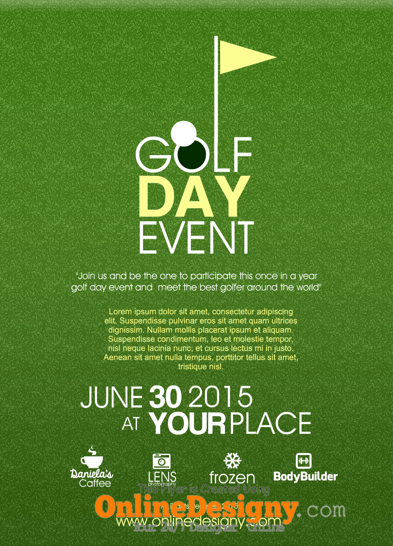 designing a golf tournament flyer