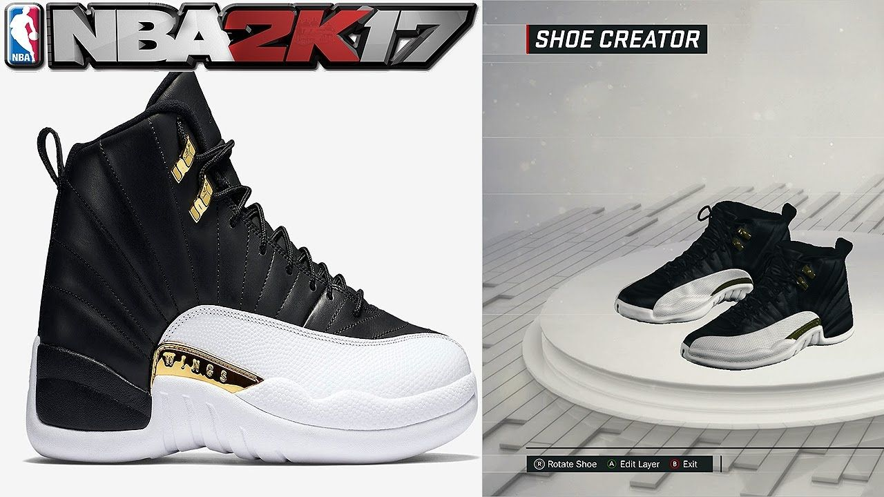 NBA 2K17 Shoe Creator Air Jordan 12 Wings