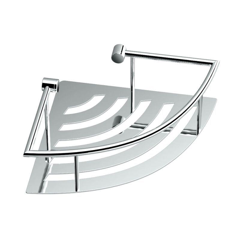 Gatco 1455 Traditional Corner Wall mounted Shower Basket Chrome ...