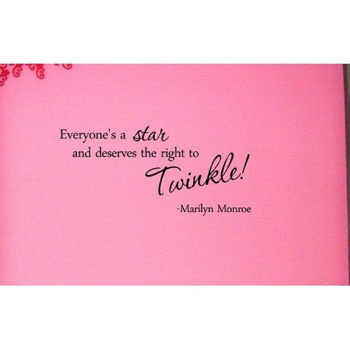 Become a star and deserve the right to twinkle - Marilyn Monroe