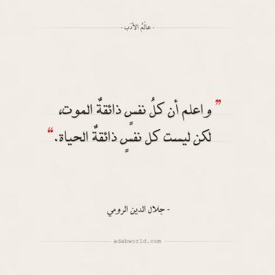 أقوال جلال الدين الرومي الموت والحياة عالم الأدب Rumi Quotes Quotes Arabic Quotes