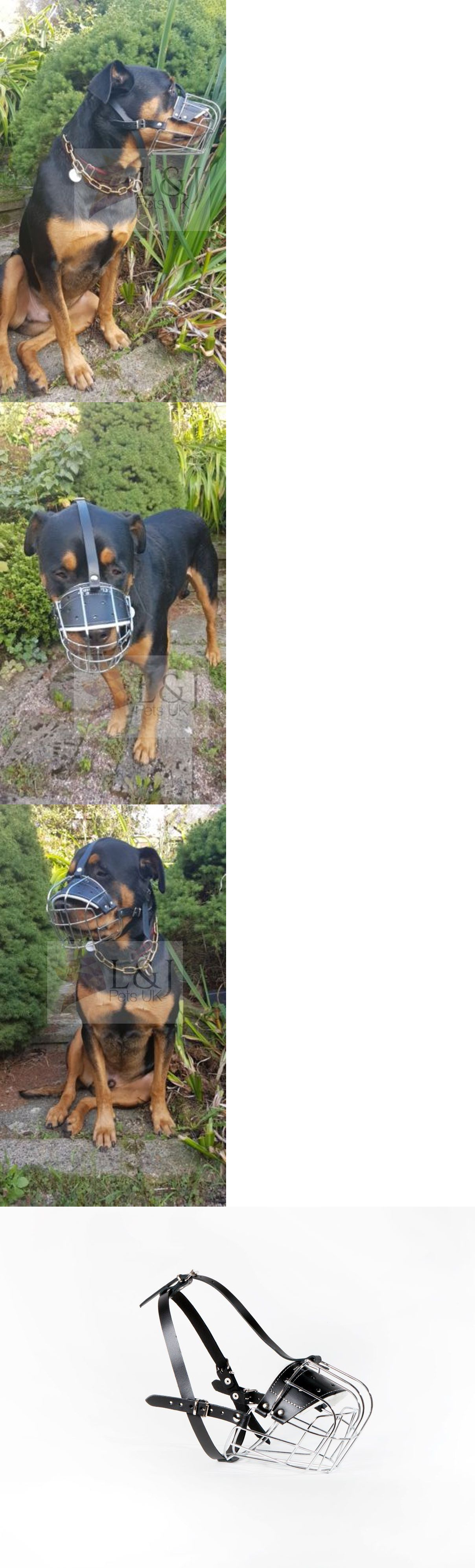 Muzzles 66784 New Metal Strong Wire Basket Dog Muzzle Rottweiler