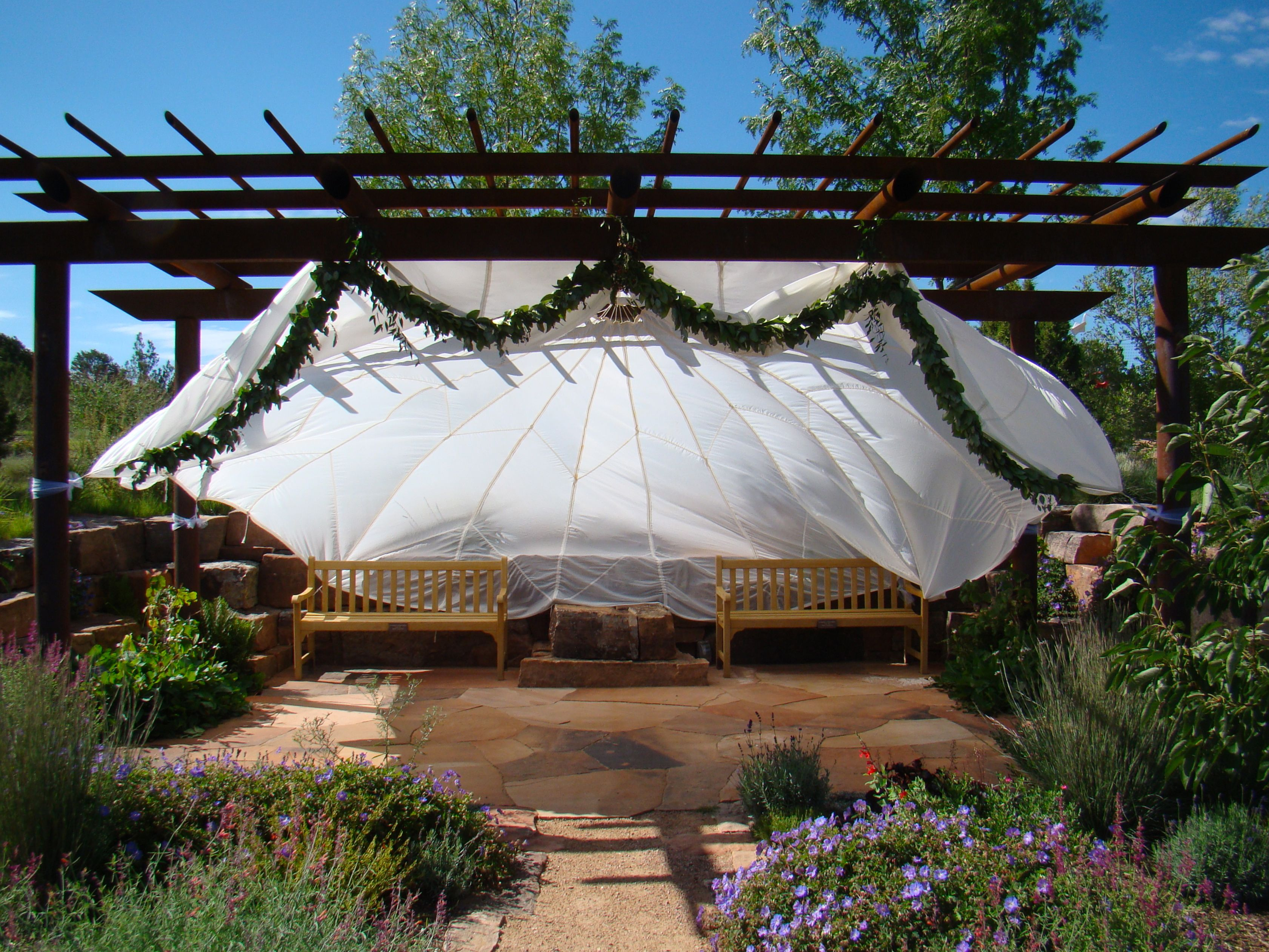 9a471c358f0 Wedding at Santa Fe Botanical Garden  outdoorwedding  marriedinagarden   visitsantafe  nmtrue