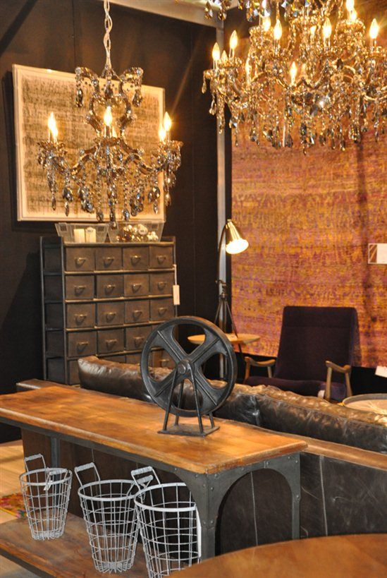 Rustic Crystal Chandeliers gorgeous crystal chandeliers in a rustic space | crystal