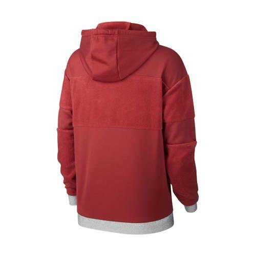 sportsweater rood/zilver