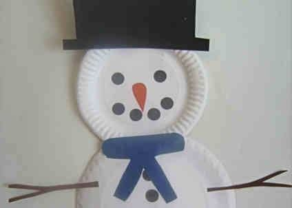 Snowman Craft For 2 3 Year Olds Christmas Crafts For Toddlers