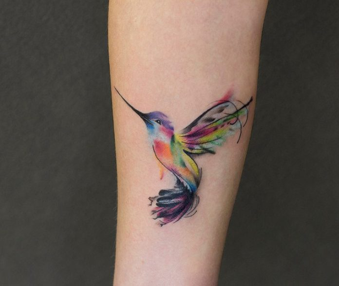 Hummingbird tattoo: meaning, sketches, more than 30 photos of the finished work