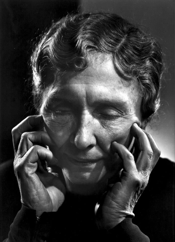 Hellen Keller 1958 by Yousuf Karsh  (1880 – 1968) overcame blindness and deafness, graduated from Radcliffe, gave many speeches on behalf of the physically handicapped and wrote several books.