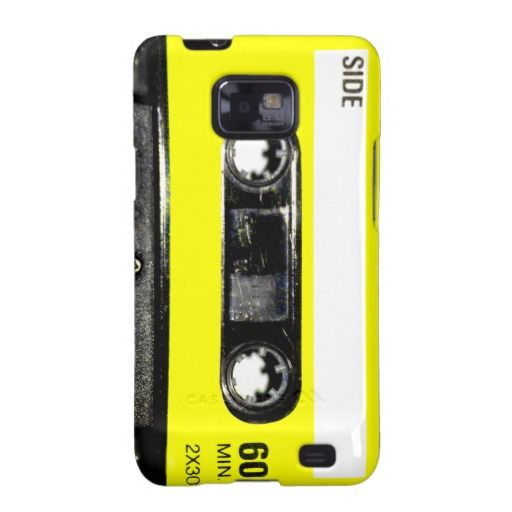 Yellow Label Vintage Cassette Samsung Galaxy SII Cover Vintage