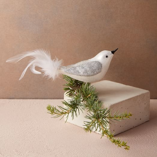 ALLSTATE Bird Feather Tail White Christmas Tree Ornament Home Decoration NWT