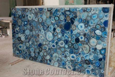 Tiffany Turquoise Amazonite Stone Slabs Blue Agate Slab