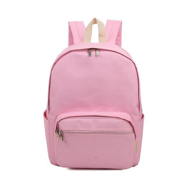 Lemon Kitten Women Backpack Canvas Women Solid Softback Zipper Polyester Arcuate Shoulder Strap Solid Bag